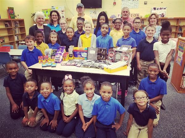 Ruritan Club Donates School Supplies to Aulander Elementary School